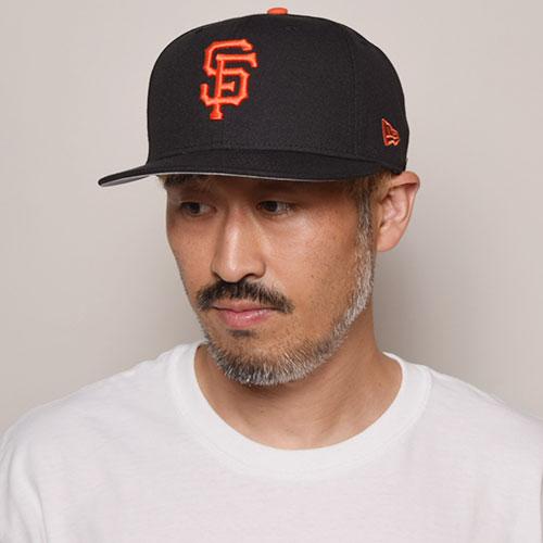 New Era/9Fifty Snap Back Cap/San Francisco Giants(ニューエラ キャップ)ブラック×オレンジ [a-3186]