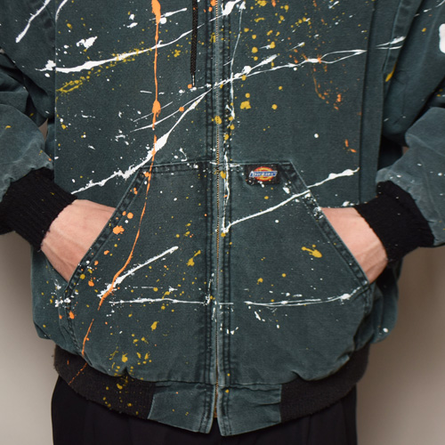 ・Dickies×US/Painted Duck Active Jacket(ディッキーズ×アス ダックジャケット)ダークグリーン/サイズXL [z-2820]