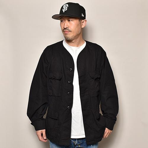 US Military×US/Over Dyed 4Pocket BDU Baseball Shirt Jacket(USミリタリー×アス ベースボールシャツジャケット)ブラック [a-3677]
