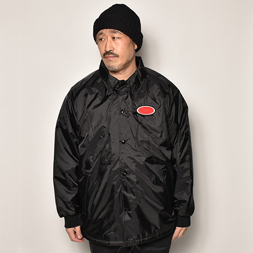 American Spirit Wear×US/Oval Patched Quilt-Lined Coach Jacket(アメリカンスピリットウェア×アス コーチジャケット)ブラック [a-4613]