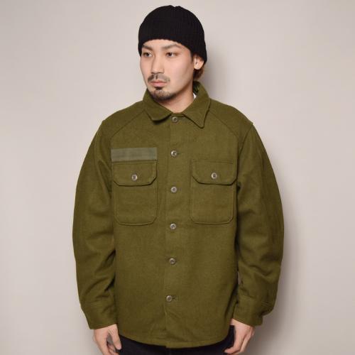 ・US Army/1980's Wool Utility Shirt (USアーミー ウールシャツ)オリーブ [z-2375]