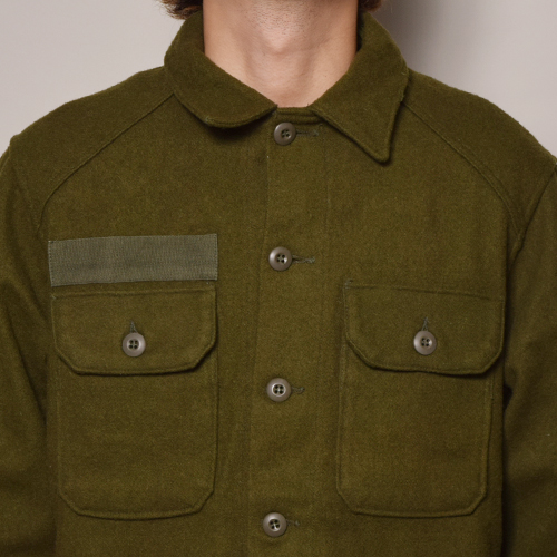 ・US Army/1980's Wool Utility Shirt (USアーミー ウールシャツ)オリーブ [z-2375]