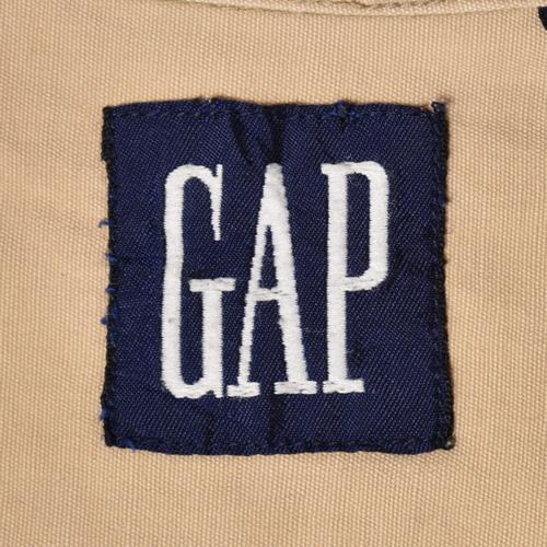 ・Gap/L/S Solid Cotton Shirt(ギャップ コットンシャツ)ベージュ/サイズM [z-3527]