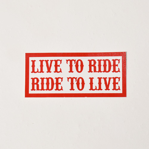 Hells Angels/Live To Ride Sticker(ヘルズエンジェルス ステッカー)[a-4917]