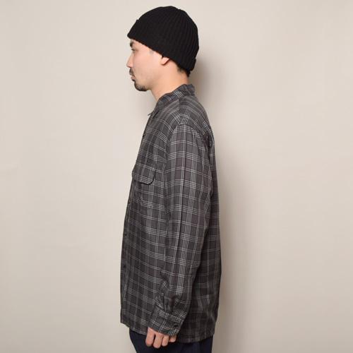 Towncraft/L/S Rayon Open Collar Shirt(タウンクラフト レーヨンシャツ)ブラック×グレー [a-3653]