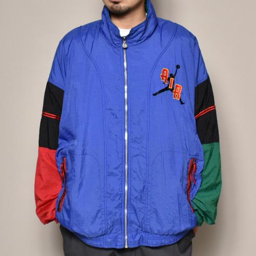 ・Nike/Jordan Nylon Jacket(ナイキ ナイロンジャケット)ブルー×レッド×グリーン/サイズXL [z-3147]