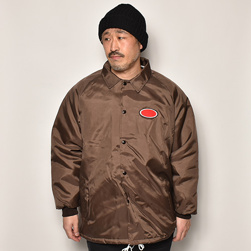 American Spirit Wear×US/Oval Patched Quilt-Lined Coach Jacket(アメリカンスピリットウェア×アス コーチジャケット)ブラウン [a-4615]