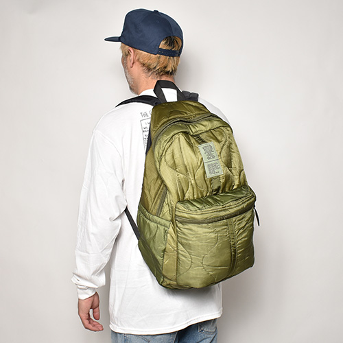 Us Customized Dead Stock US Military/M-65 Quilted Back Pack(USカスタマイズ バックパック)オリーブ [a-4769]