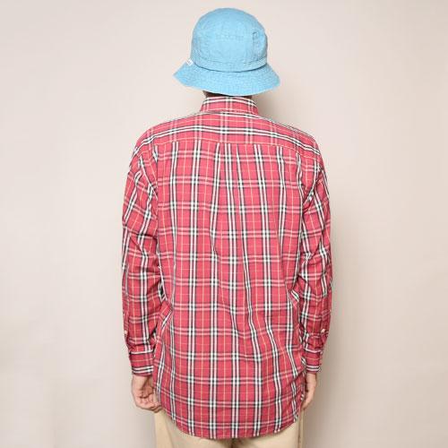 ・Burberry/Old L/S Check Shirt(バーバリー チェックシャツ)レッド×ブラック×ホワイト/サイズM [z-2084]