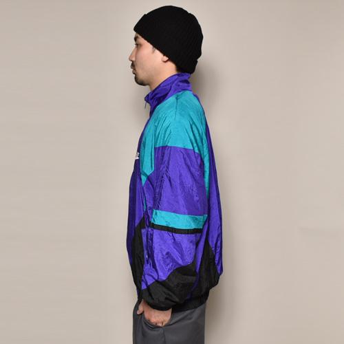 ・Nike/Nylon Jacket(ナイキ ナイロンジャケット)パープル×グリーン×ブラック/サイズL [z-3179]