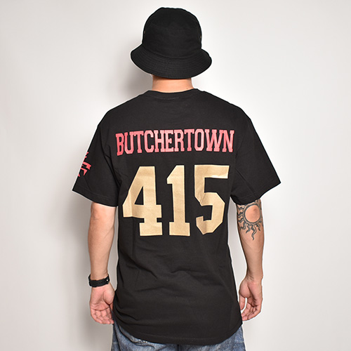 415 Clothing/Butchertown SF 49ers S/S T-shirt(415クロージング Tシャツ)ブラック [a-5242]