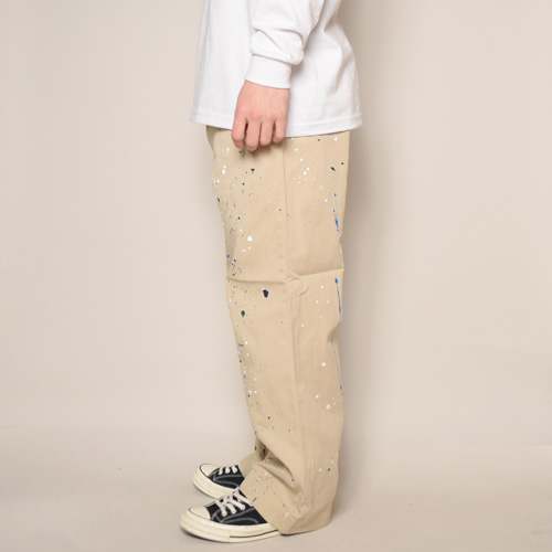 ・US Army×US/Painted Khaki Trousers(USアーミー×アス ペイントチノパンツ)カーキ/サイズW31 [z-2823]