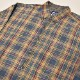 ・Gap/L/S Checked Cotton Shirt(ギャップ コットンシャツ)ネイビー×イエロー×パープル/サイズM [z-3447]