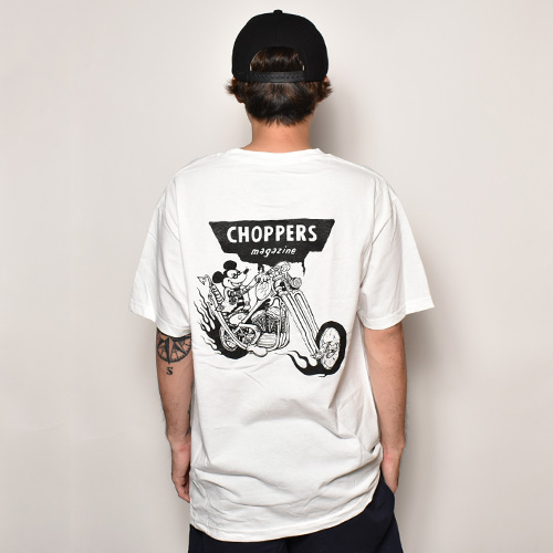 Choppers Magazine/Chopper Mouse S/S T-Shirt(チョッパーズマガジン Tシャツ)ホワイト [a-3839]