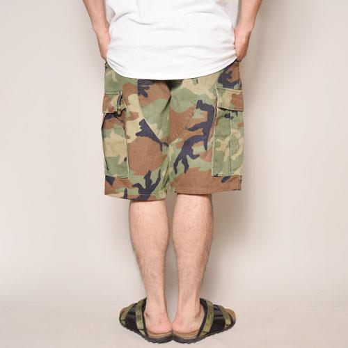 ・US Army×US/6Pocket BDU Shorts/Non-Rip Stop(USアーミー×アス カーゴショーツ)ウッドランドカモ [z-1916]