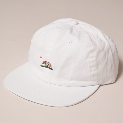 California Grizzly Bear/6Panel Cap(カリフォルニア・グリズリー キャップ)ホワイト [a-3429]