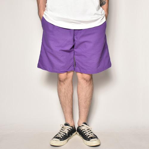 Color Chino Cloth Easy Short Pants(チノイージーショートパンツ)パープル [a-3882]