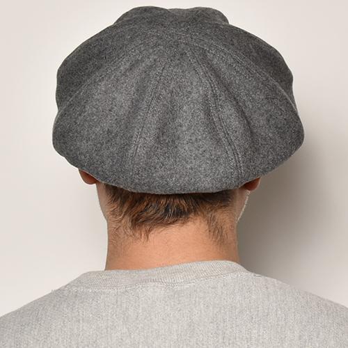 US Original/Big Apple Wool Casquette(USオリジナル ウールキャスケット)グレー [a-4619]