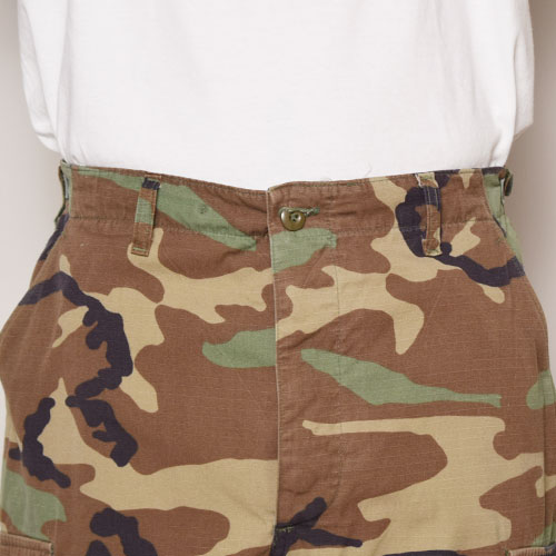 ・US Army×US/6Pocket BDU Shorts/Rip Stop(USアーミー×アス カーゴショーツ)ウッドランドカモ [z-1917]