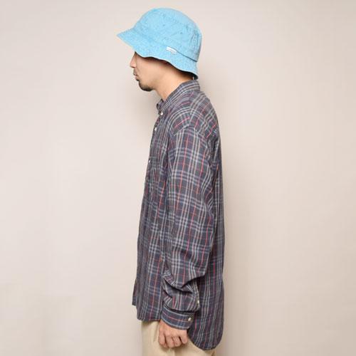 ・Burberry/Old L/S Check Shirt(バーバリー チェックシャツ)ネイビー×ホワイト×レッド/サイズXL [z-2088]