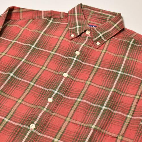 ・Gap/L/S Checked Cotton Shirt(ギャップ コットンシャツ)レッド×オリーブ×ホワイト/サイズM [z-3449]
