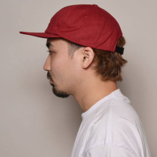 California Grizzly Bear/6Panel Cap(カリフォルニア・グリズリー キャップ)レッド [a-3432]