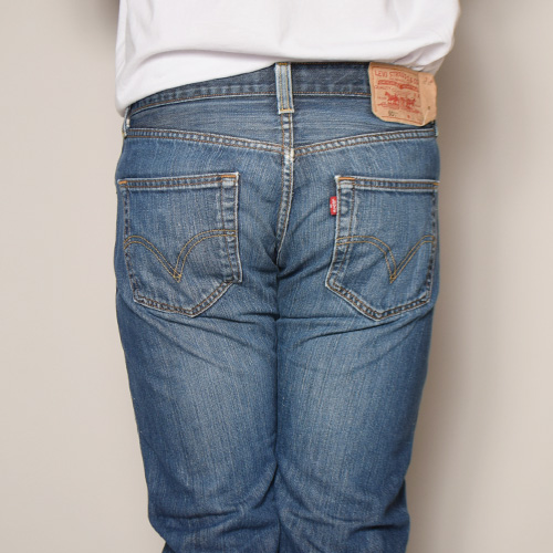 ・Levi's×US/Painted Customized 501 Jeans(リーバイス×アス ペイント501ジーンズ)インディゴ/サイズW32 [z-2921]