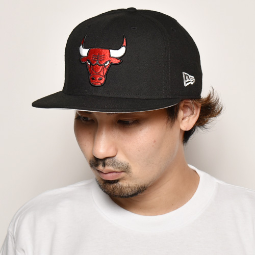 New Era/9Fifty Snap Back Cap/Chicago Bulls(ニューエラ キャップ)ブラック [a-3924]