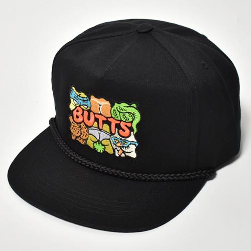 Crazy Butts Twill Snapback Cap(バッツキャップ)ブラック [a-4730]