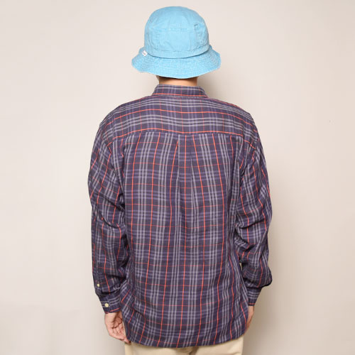 ・Burberry/Old L/S Check Shirt(バーバリー チェックシャツ)ネイビー×ホワイト×レッド/サイズXL [z-2092]