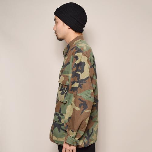 ・US Military/4Pocket BDU Shirt Jacket/Non Rip-Stop(USミリタリー BDUジャケット)ウッドランドカモ [z-2151]