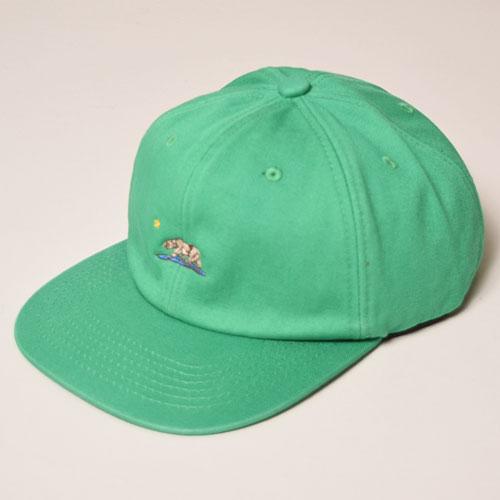 California Grizzly Bear/6Panel Cap(カリフォルニア・グリズリー キャップ)グリーン [a-3433]