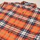 ・Gap/L/S Checked Light Flannel Shirt(ギャップ コットンシャツ)オレンジ×ブルー×ホワイト/サイズL [z-3452]