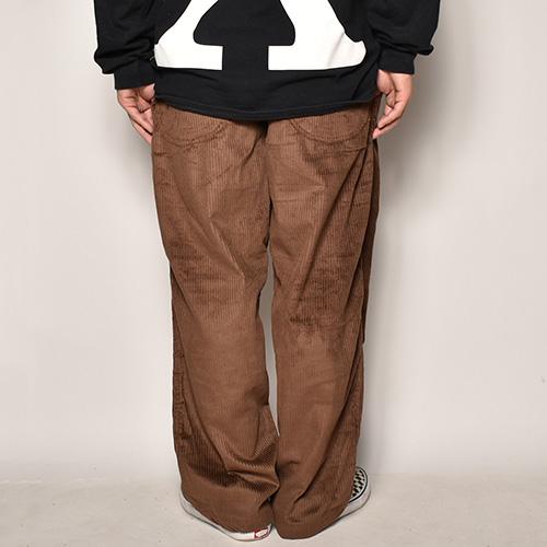 Wide Wale Corduroy Loose Easy Pants(コーデュロイルーズイージパンツ)ブラウン [a-4142]