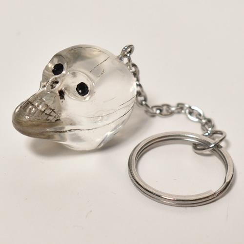 The Spooky Skull Key Holder(スカルキーホルダー)クリア [a-4623]