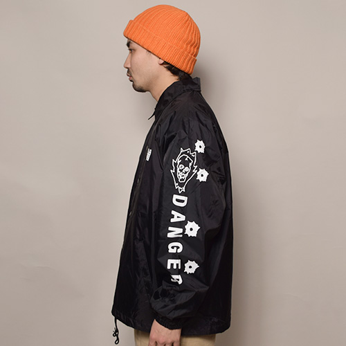 HWY×US/Tattoo Flash Nylon Jacket(エイチダブリューワイ×アス ナイロンジャケット)ブラック [a-3496]