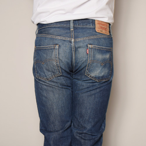 ・Levi's×US/Painted Customized 501 Jeans(リーバイス×アス ペイント501ジーンズ)インディゴ/サイズW32 [z-2923]
