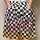 Flames Checkerboard Printed Easy Short Pants(フレームスチェッカーイージーショートパンツ)ホワイト/ブラック×イエロー/レッド [a-3749]