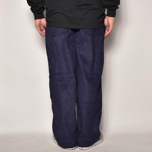 Wide Wale Corduroy Loose Easy Pants(コーデュロイルーズイージパンツ)ネイビー [a-4143]