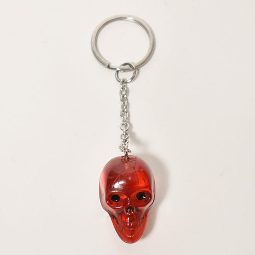 The Spooky Skull Key Holder(スカルキーホルダー)レッドクリア [a-4624]