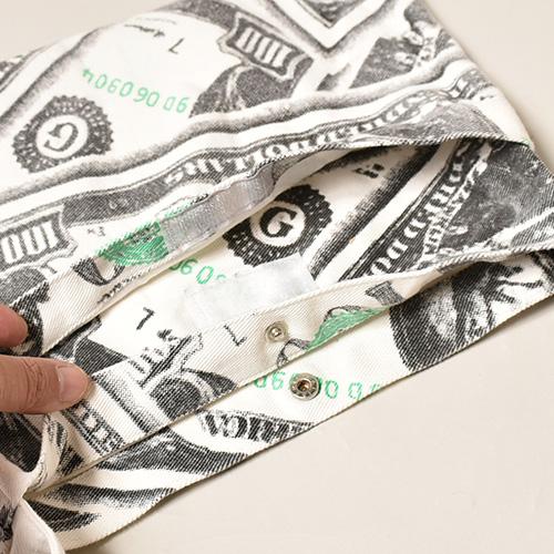 100 Dollar Bill Printed Sacoche Bag(100ドル札サコッシュバッグ)ホワイト [a-3731]