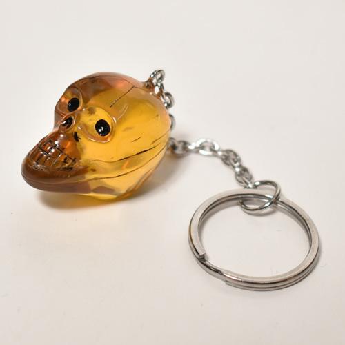The Spooky Skull Key Holder(スカルキーホルダー)イエロークリア [a-4625]