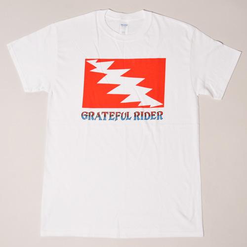 Grateful Rider T-Shirt(グレイトフルライダー Tシャツ)ホワイト [a-2551]