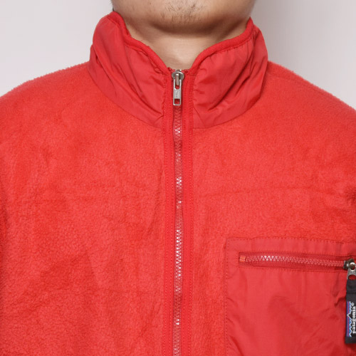 ・Patagonia/Synchilla Fleece Jacket(パタゴニア シンチラフリースジャケット)レッド/サイズL [z-0252]