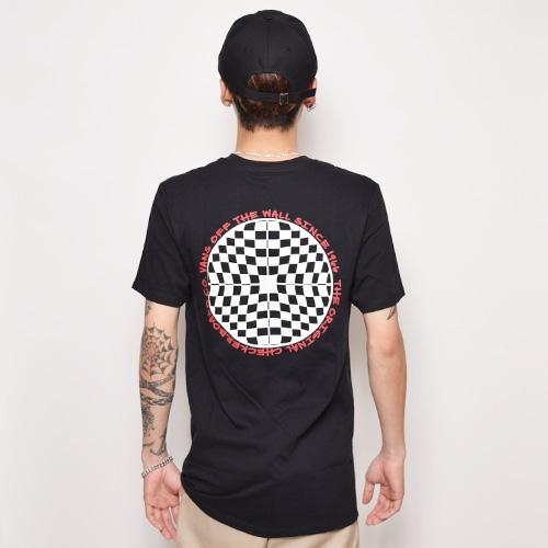 Vans/Checkred S/S T-Shirt(バンズ Tシャツ)ブラック [a-2345]