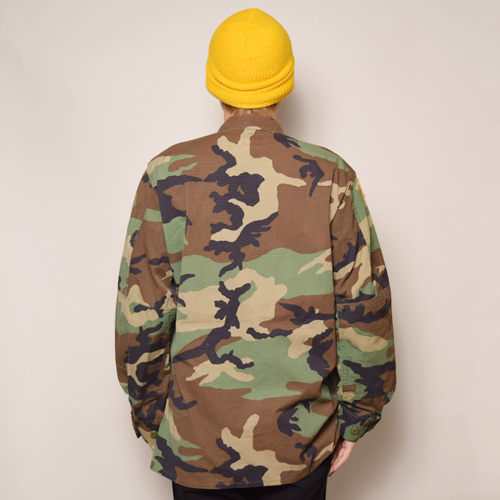 ・US Military/4Pocket BDU Shirt Jacket/Rip-Stop(USミリタリー BDUジャケット)ウッドランドカモ [z-2155]