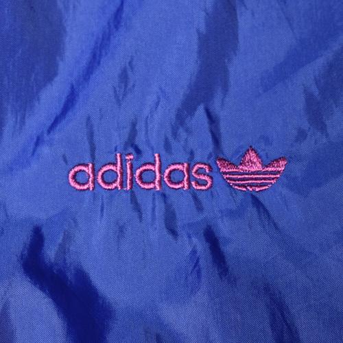 ・adidas/Nylon Jacket(アディダス ナイロンジャケット)ブルー×ライトブルー×パープル/身幅65cm [z-3191]