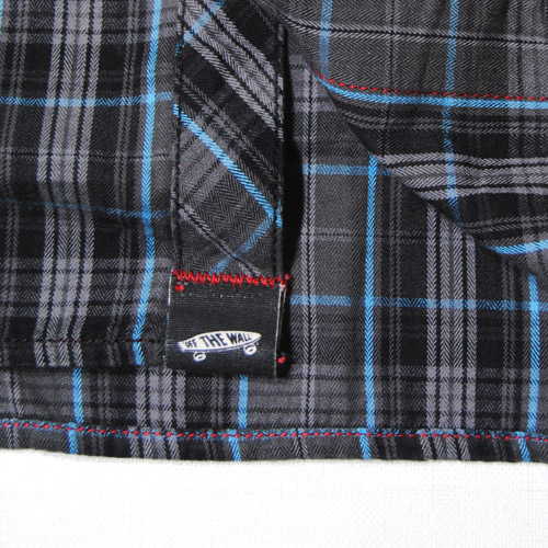 Vans/Fairbrook Shirt(バンズ チェックシャツ)チャコールチェック [n-4831]