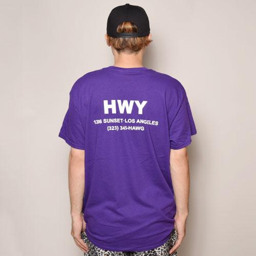 HWY×US/S/S Cal Trans T-Shirt(エイチダブリューワイ×アス Tシャツ)パープル [a-3199]