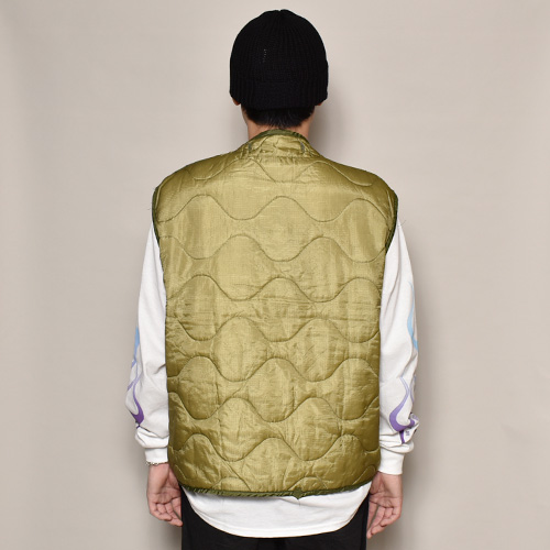 ・US Army×US/M-65 Quilted Liner Vest(USアーミー×アス キルティングライナーベスト)オリーブ [z-3097]
